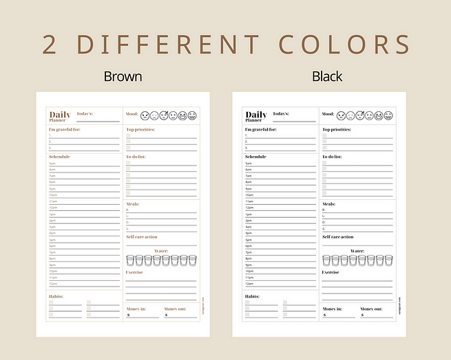 2 different colors - Brown and black