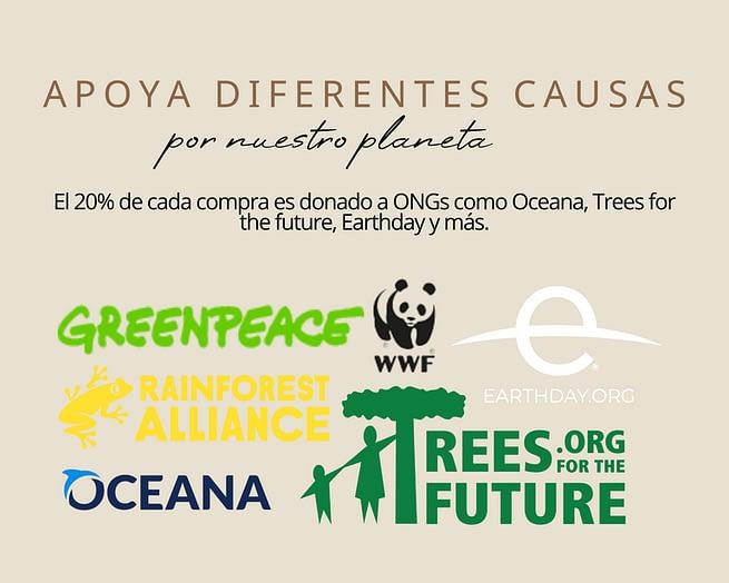Apoya diferentes causas por nuestro planeta