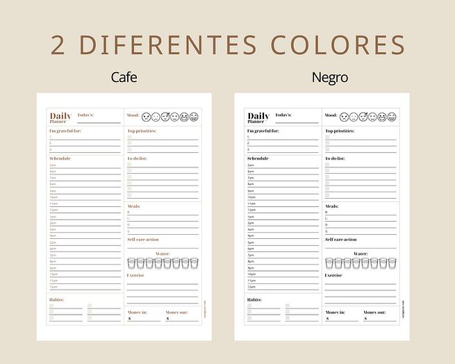 2 diferentes colores - Cafe y negro