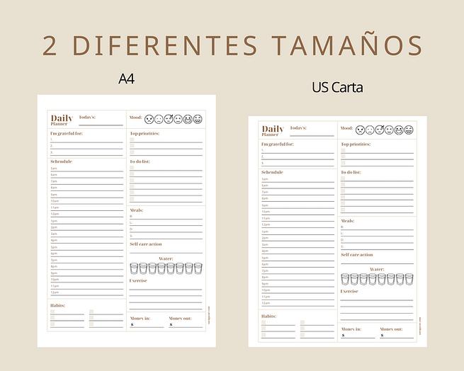 2 tamaños diferentes- A4 y carta