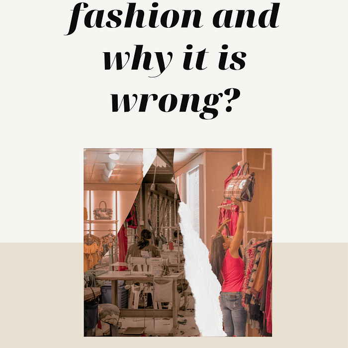 What is fast fashion and why it is horribly wrong